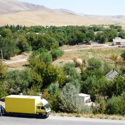 Село, где проходят съемки фильма с участием Депардье